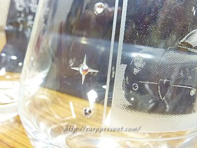 アトリエココロ グラスの名入れと写真画像アップ