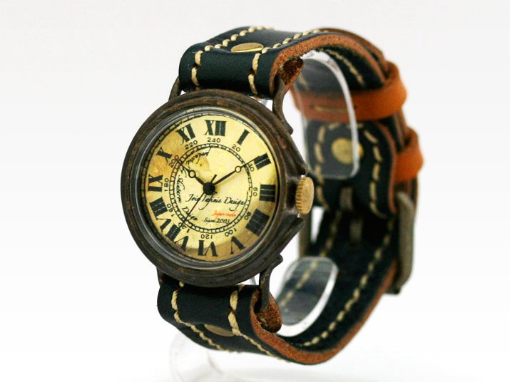 手作りアンティーク風腕時計にメッセージを込めて!ベルト色選べます