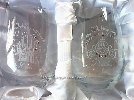 名入れグラス お城と馬車のペアグラス