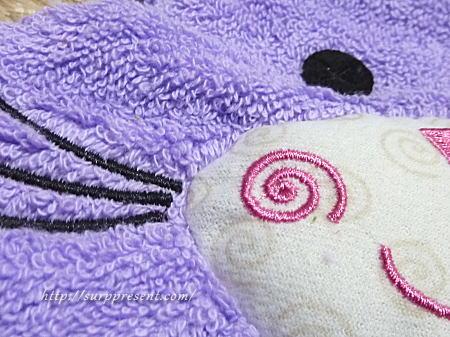 ズッキーニ バスタオル 縫製の様子