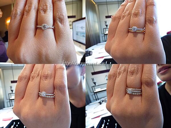 ブリリアンス+ 婚約指輪 重ね付けイメージ