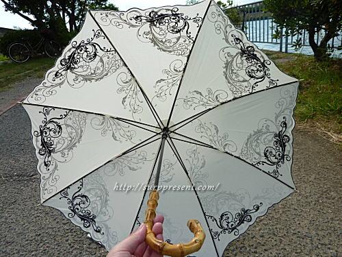 傘専門店macocca オリエンタル刺繍柄の日傘レビュー