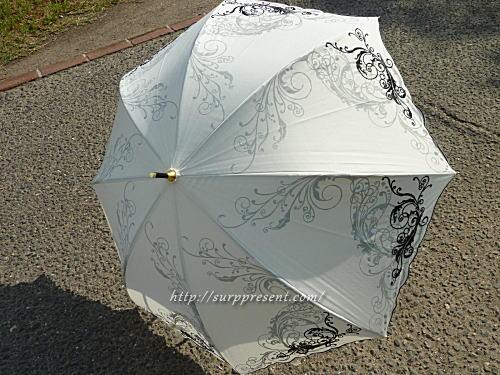オリエンタル刺繍柄日傘の全体イメージ