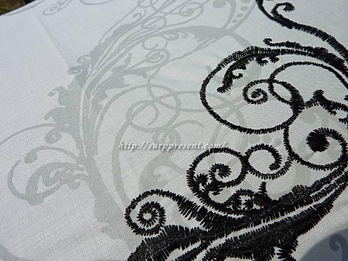 オリエンタル刺繍柄 2デザインの違い