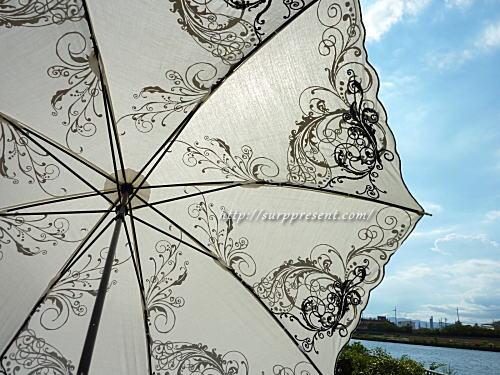 紫外線遮蔽率99%、UV軽減の日傘