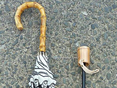 3段折りたたみ日傘の持ち手 竹
