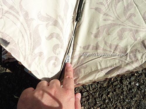 3段折りたたみ日傘の生産国タグ