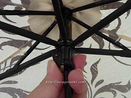 3段折りたたみ傘 暗線設計のストッパー