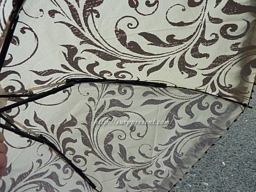 3段折りたたみ傘 金具の色は黒