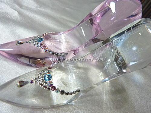 スワロデコ・名前入りガラスの靴レビュー