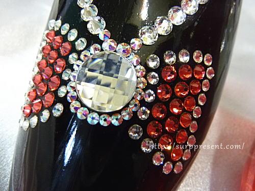 シンデレラの靴リボンデコ レッドカラー
