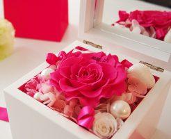 バラに誕生石・メッセージ可能!オルゴールのオリジナルプレゼント